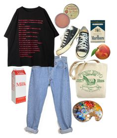"""""""museum"""" by mysleepinghorizon on Polyvore featuring Converse and Rosebud Perfume Co."""