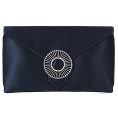 blue silk clutch bag finished with a round crystal brooch Lyon, Navy Blue Clutch, Navy Blue Handbags, Blue Envelopes, Bags Uk, Glitter Fabric, Clutch Bag, Envelope Clutch, Luxury Handbags