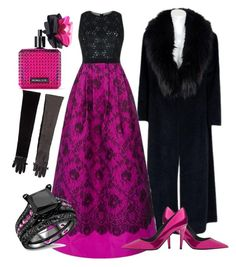 """""""pink&black"""" by miha-jez ❤ liked on Polyvore featuring Andrew Gn, Dsquared2, Tamara Mellon and Victoria's Secret"""