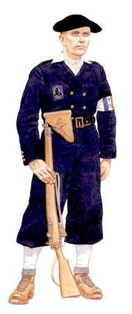 Maquis de Auvergne, formador de Juventudes de Montaña, Alpes, 1945