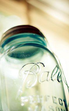 Ball Mason Jar - love my blue mason jars!