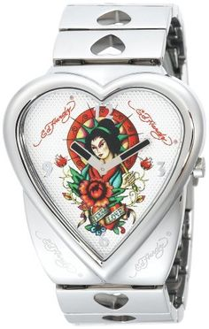 Ed Hardy Women's CR-GA Crush Geisha Watch Ed Hardy. $199.99. Individual serial number. Water-resistant to 330 feet (100 M). Twelve hour format, hour and minute movement. Genuine Don Ed Hardy tattoo artwork. Japanese digital movement, hardened mineral crystal face