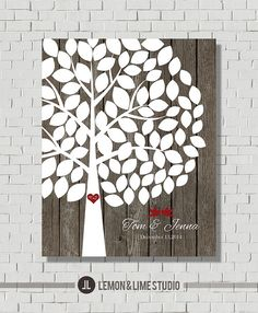 Alternative Wedding Guest Book Tree, Wedding Guest Book Poster, Guest Book Tall Tree Gift, Wood Wedding Guestbook Art Print, Wedding Gift on Etsy, $42.63 CAD