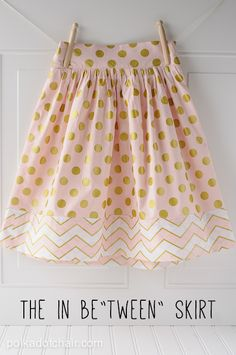 Tween Skirt Sewing Tutorial on polkadotchair.com