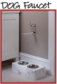 Built-in Dog Bar for Filling Up the Water Bowl