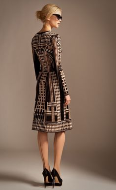 TEMPERLEY LONDON - SPHINX KNIT FLARED DRESS