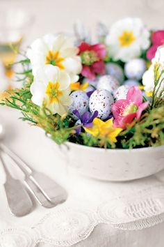 Spring Nest Centerpiece  - CountryLiving.com