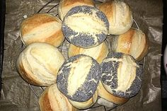 The fastest bread rolls in the world - Rezepte - Brot Bread Bun, Easy Bread, Bread Rolls, German Bread, Pampered Chef, Fall Desserts, Bread Baking, Finger Foods, Bread Recipes