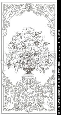花瓶牡丹花