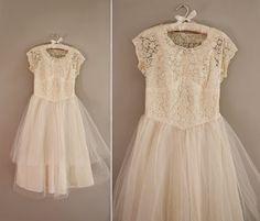 vintage tea lace dress   bridesmaid dress