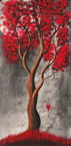 Kai Fine Art is an art website, shows painting and illustration works all over the world. Art Carte, Red Tree, Art Et Illustration, Diy Canvas Art, Fine Art, Beautiful Paintings, Painting & Drawing, American Art, Amazing Art
