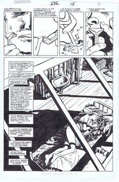 Daredevil Issue 232 page 15 by David Mazzucchelli - Karen half splash Comic Art