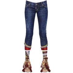 Dsquared2 Women Billie Embellished Cotton Denim Jeans