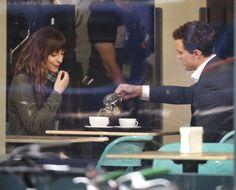Las primeras imágenes de Dakota Johnson y Jamie Dornan en el rodaje de 'Cincuenta sombras de Grey'