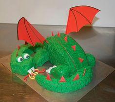gateau anniversaire  dragon cake design