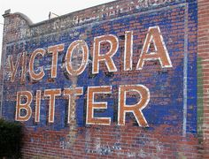 Very cool old sign near my home. (Since painted over) Flemington, Victoria, Australia Retro Signage, Melbourne Suburbs, Old Signs, Shop Signs, Bitter, Hand Painted, Ads, Victoria Australia, Cheers
