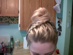 the front of my date night hair :) Date Night Hair, Girly Things, My Hair, Friday, Dreadlocks, Hair Styles, Makeup, Cute, Clothes
