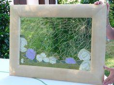 specchio con decorazione in rilievo con fiori e fili d'oro (27)