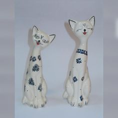 Boleslawiec Polish Pottery cats I think the customer will love this!