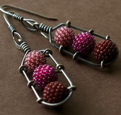 Caged Earrings - by tqbdesigns