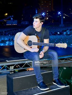 Shawn Mendes during Pitbull's New Year's Revolution rehearsal at Bayfront Park Amphitheater on December 30, 2015 in Miami, Florida.