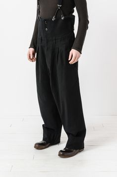 Yohji Yamamoto - high waisted adjustable wide leg trouser