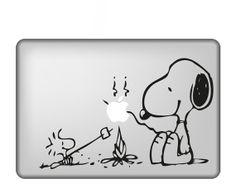 Snoopy---Macbook Decal Mac book Stickers Macbook Decals Apple Decal for Macbook Pro / Macbook Air / iPad / / iPhone via Etsy. Mac Stickers, Mac Decals, Apple Stickers, Vinyl Decals, Calcomanía Macbook, Macbook Decal Stickers, Laptop Decal, Apple Laptop, Mac Laptop