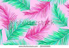Resultado de imagen para pattern palm pink
