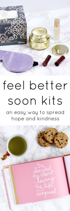 Feel Better Soon Kits: A quick and easy way to spread hope and kindness when your loved ones aren't feeling well! See how easy it is to create this kit that @AshleyNicholas created for the ShareKleenexCares campaign at Walmart at ashleybrookenicholas.com! AD