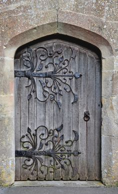 South Door of St. Mary's Church in Meare, Somerset