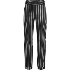 Designer Clothes, Shoes & Bags for Women Stripe Pants, Silk Pants, Haider Ackermann, Tailored Trousers, Sport Wear, Ootd Fashion, Clothing Items, Classic Looks, Polyvore Outfits