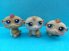 Lps  (left to right) Timmy, Samy, and Hamburger.