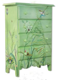 Custom Painted Furniture | ... Decluttering News: Storage to Make You Smile: Hand-Painted Furniture