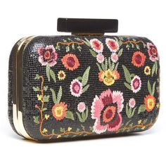 Alice + Olivia Bohemian Large Clutch ($445) ❤ liked on Polyvore featuring bags, handbags, clutches, flower print purse, flower print handbags, floral print handbags, floral clutches and party clutches