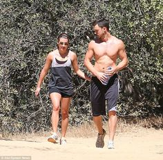 Close: Lea and Matthew have been dating since they met on the set for her music video On M...