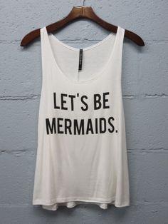 Mermaid Tank - White - Nobella Grace Boutique! Every Mermaid needs this tank! #letsbemermaids #nobellagrace