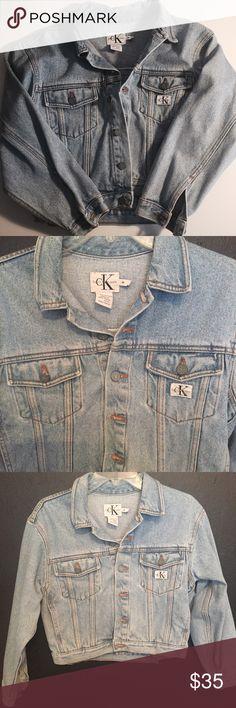 Vintage light blue authentic Calvin Klein jacket Vintage light blue authentic Calvin Klein jacket size small/medium Calvin Klein Jackets & Coats Jean Jackets