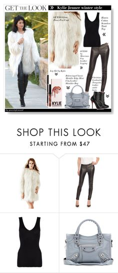 """Winter edition by Kylie Jenner"" by yourstylemood ❤ liked on Polyvore featuring GUESS, GUESS by Marciano, Hanro, Balenciaga, Christian Louboutin, GetTheLook, KylieJenner and winterstyle"