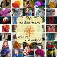 50 One Skein Projects Perfect for A Fall Weekend!