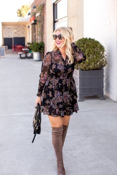 Casual Fall Outfits That Will Make You Look Cool – Fashion, Home decorating Fall Floral Dress, Floral Dress Outfits, Fall Outfits 2018, Casual Outfits, Fall Dresses, Cute Dresses, Prom Dresses, Boho Fashion, Fashion Outfits