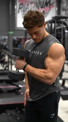 Arm Day Workout, Dumbbell Workout At Home, Bicep And Tricep Workout, Gym Workout Chart, Gym Workout Videos, Gym Workout For Beginners, Fitness Workouts, Weight Training Workouts, Academia Fitness