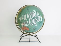 I want to update my globe, it needs a refresh. Your Next DIY Project: Painted Globes   Lovelyish