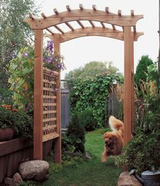 How to Build a Garden Arbor Garden arbours Arbors and Illustrations