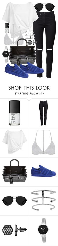 """""""Untitled #19479"""" by florencia95 ❤ liked on Polyvore featuring NARS Cosmetics, H&M, Red Herring, Topshop, Yves Saint Laurent, adidas, 3.1 Phillip Lim, Simply Vera and Christian Van Sant"""