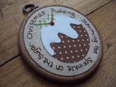 I love this, beautiful. ❤️  Christmas Pudding Wall Hoop Art £15.00