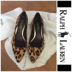 Ralph Lauren Leopard Heels with Cushion Soft Ralph Lauren Leopard Heels with Cushion Soft. Size 6B. Style: Emilie II Leopard Haircalf. Brand New. Never been used. Style and price tag still on the shoes, but I no longer have the original box. Ralph Lauren Shoes Heels