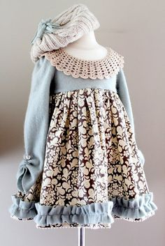 re-purposed adult sweater into a little girl's dress tutorial