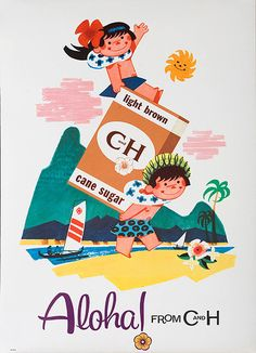 DP Vintage Posters - Original Aloha From C&H Advertising Poster Light Brown Sugar