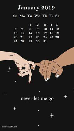 January 2019 Cool iPhone Calendar