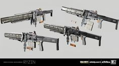 Weapon created for Call of Duty: Infinite Warfare.  These weapons were an amazing experience to work on alongside the incredibly talented weapons team at IW.   Design - IW Weapons Team Blockout - IW Weapons Team High Poly Model - RYZIN Game Model UVs -  R